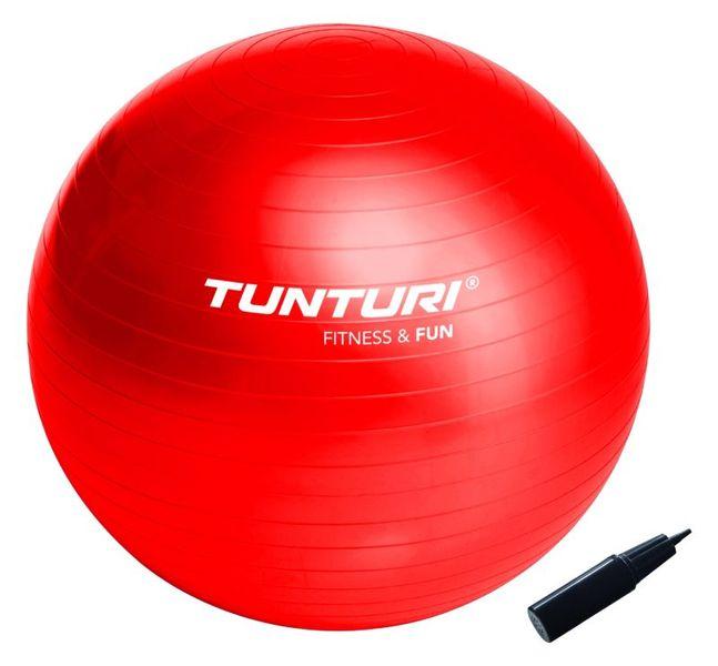 Tunturi Gymnastický míč 65cm s pumpičkou červený