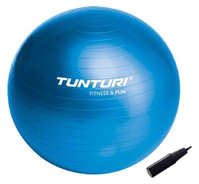 Tunturi Gymnastický míč 90cm s pumpičkou modrý