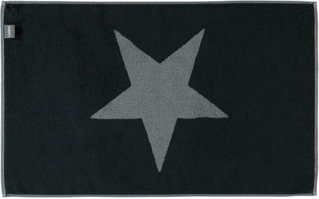 Cawö Frottier Big Stars Fürdőszoba szőnyeg, Fekete