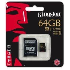 Kingston spominska kartica microSDXC 64GB z SD adapterjem (SDCA10/64GB)