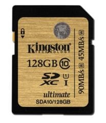 Kingston spominska kartica SDXC UHS-I U3 128GB C10 (SDA10/128GB)