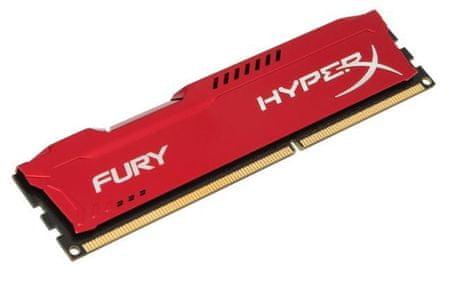 Kingston pomnilniški modul DDR3 HyperX Fury 8GB (HX316C10FR/8), rdeč