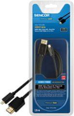 Sencor SAV 173-015 (HDMI 1.4 A-D micro kabel), 1,5 m