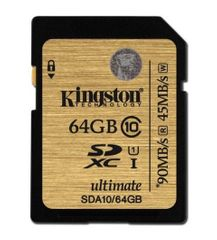 Kingston SDXC Ultimate 64GB UHS-I Class SDA10/64GB Memóriakártya