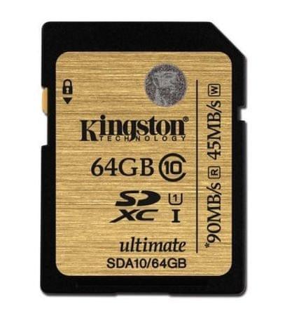 Kingston spominska kartica SDXC UHS-I 64GB C10 (SDA10/64GB)