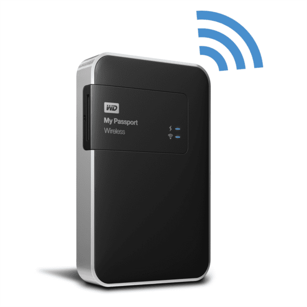 "WD My Passport Wireless 1TB / Externí / USB 3.0 / 2,5"" / Black (WDBK8Z0010BBK-EESN)"