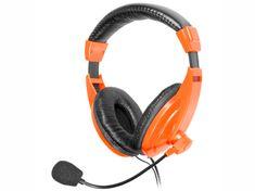Tracer słuchawki z mikrofonem Explode, pomarańczowe (TRASLU43914)