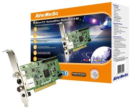 AVerMedia TV tuner AVerTV Satellite Hybrid + FM