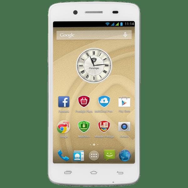Prestigio MultiPhone 5507 DUO, bílý - II. jakost
