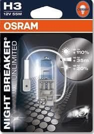 Osram žarnica 12V H3 55W Night Breaker Unlimited + 110% svetlobe