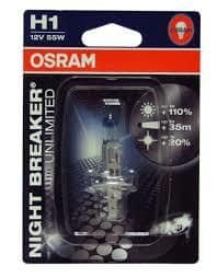 Osram žarnica 12V H1 55W Night Breaker Unlimited + 110% svetlobe