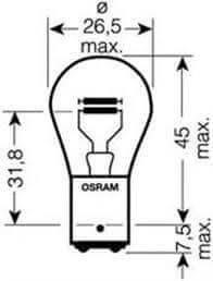 Osram žarulja 12V 21/5 Ultralife 10 kom. P21/5W