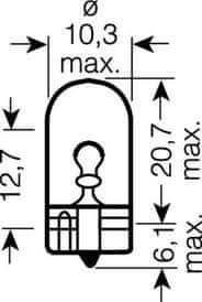 Osram žarulja 12V 3W (2,1x9,5d) staklena 10 kom. W3W