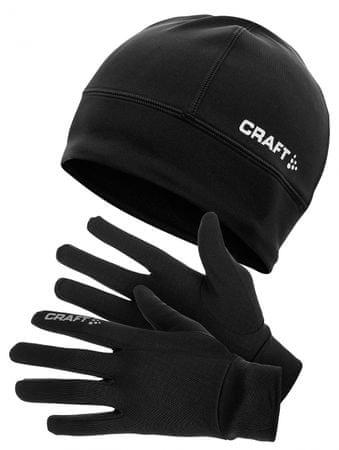 Craft komplet rokavice + kapa, M, črna