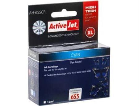 ActiveJet Cyan črnilo HP655
