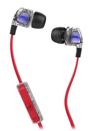 Skullcandy slušalke Smokin Bud 2, črno-rdeče
