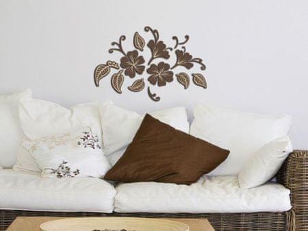 Crearreda stenska dekorativna nalepka, 3D rože in listi M
