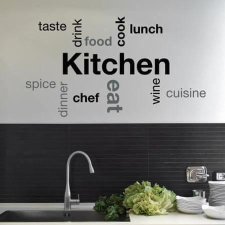 Crearreda stenska dekorativna nalepka kitchen, Kitchen L