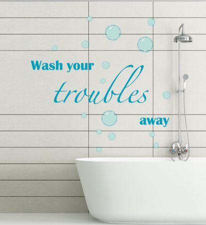 Crearreda stenska dekorativna nalepka bathroom, Troubles L