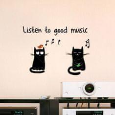 Crearreda stenska dekorativna nalepka, Listen to good music S
