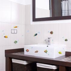 Crearreda dekorativna nalepka, barvne ribice S