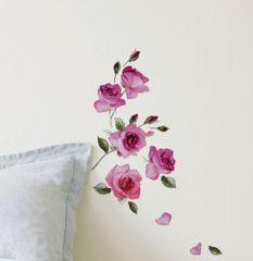 Crearreda stenska dekorativna nalepka, vrtnice S