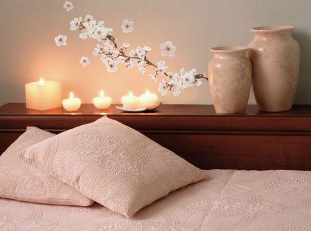 Crearreda stenska dekorativna nalepka, cvetoče češnje, S