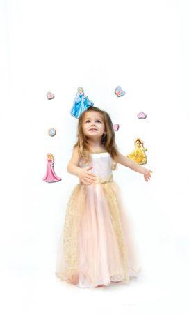 Crearreda stenska dekorativna nalepka, 3D Princese M