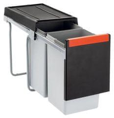 Franke sustav za odvajanje otpada Cube 30, ručni, 2 x 15L