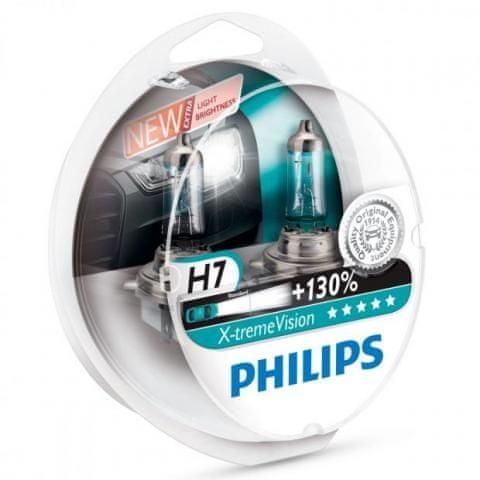 Philips X-tremeVision H7, 12 V, 55 W, 2 ks