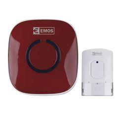 Emos brezžični zvonec P57178R, rdeč