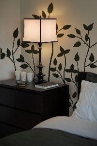 Crearreda stenska dekorativna nalepka, flat črne veje XL