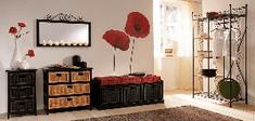 Crearreda stenska dekorativna nalepka, flat mak XL
