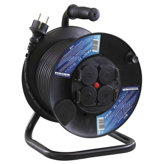 EMOS produžni kabel na kolutu 25 m, gumiran (P08225)