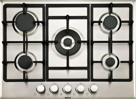 Beko plinska kuhalna plošča HIMW75225SX