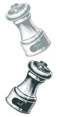 Crearreda stenska dekorativna nalepka, sol in poper S