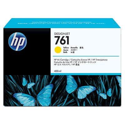 HP kartuša Designjet 761, rumena, 400 ml