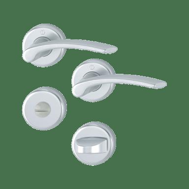 Hoppe garnitura Ibiza, rozeta 1171/17KV/17KVS F1 WC, aluminijasta