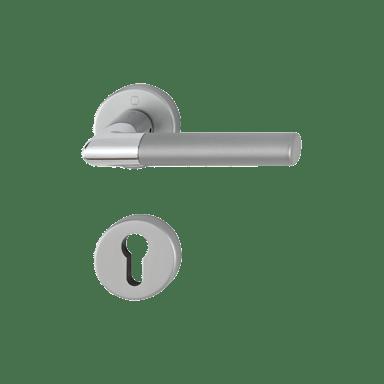 Hoppe garnitura Lecce, rozeta 1405/42KV/42KVS F49/F9-2 PZ, aluminijska