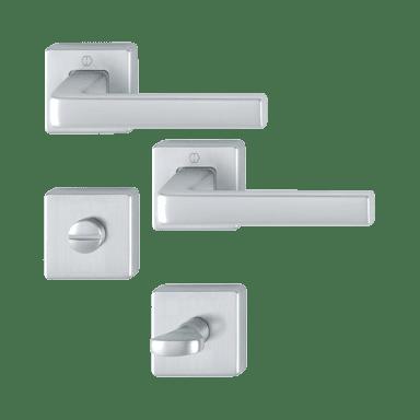 Hoppe garnitura Dublin, rozeta 1124/843KV/843KVS F94-1 WC, aluminijasta