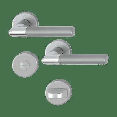 Hoppe garnitura Lecce, rozeta 1405/42KV/42KVS F49/F9-2 WC, aluminijska