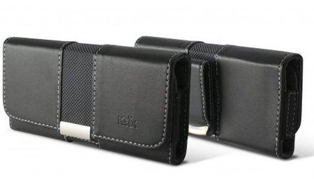 Ksix ležeča torbica za na pas velikost L, črna