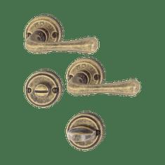 Hoppe garnitura Valencia, rozeta M170/15K-2/15KS-2 F55 WC, medeninasta