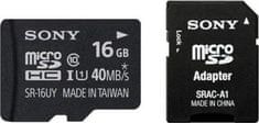 Sony microSDHC 16GB (class) 40MB/s + adaptér