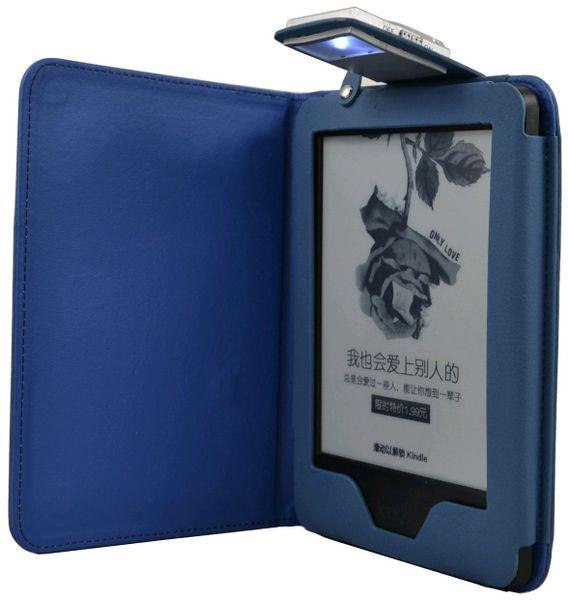 C-Tech PROTECT pouzdro pro Amazon Kindle 6 TOUCH s lampičkou, AKC-09B, modré