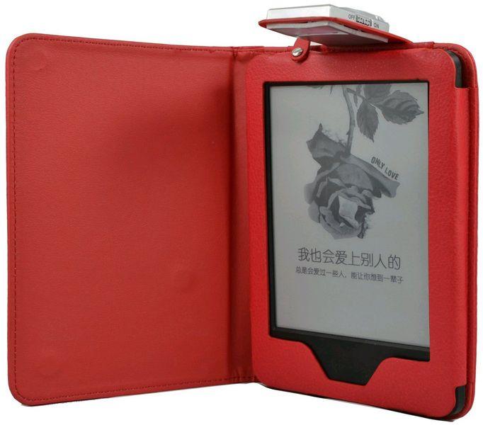 C-Tech PROTECT pouzdro pro Amazon Kindle 6 TOUCH s lampičkou, AKC-09R, červené