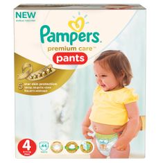 Pampers Plenkové kalhotky Premium Pants 4 Maxi - 44ks
