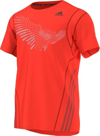 Adidas majica s kratkimi rokavi Graph Tee, moška, rdeča, XXL
