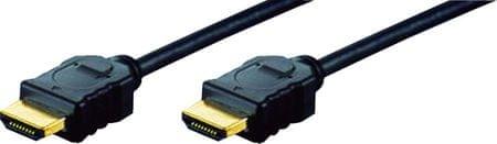Digitus kabel Highspeed HDMI z mrežno povezavi 10m, črn