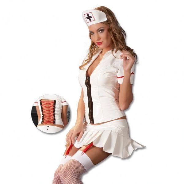 Dámský lakový kostým zdravotní sestra (M)